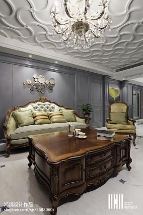 精选面积104平美式三居客厅实景图片欣赏