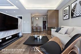 質樸80平現代二居客廳美圖