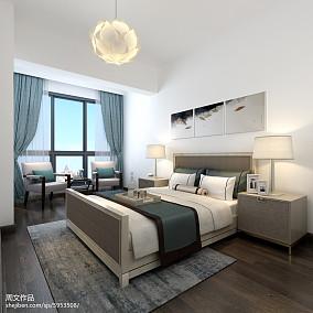 热门面积90平小户型卧室现代装修欣赏图