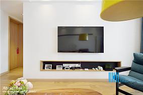 2018北欧复式客厅设计效果图