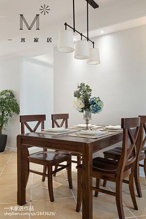 精选大小96平美式三居餐厅效果图片