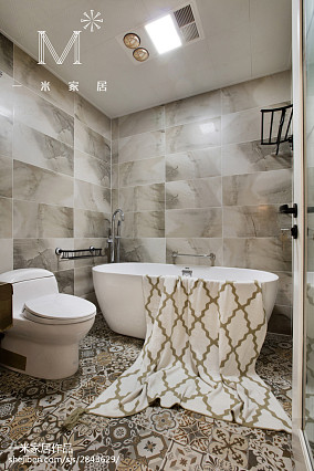 精美面积78平美式二居卫生间装修图