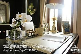 精选125平米美式别墅书房装修实景图片大全
