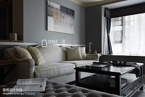 精美89平米二居客厅美式设计效果图