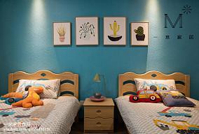 温馨108平现代三居儿童房布置图