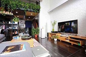 热门面积130平复式客厅装修设计效果图片欣赏