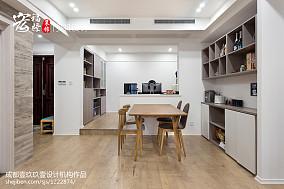 简洁130平现代三居装饰图片