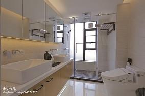 2018面积124平别墅卫生间现代装修效果图片欣赏