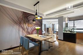 精美100平米三居餐厅现代实景图片欣赏