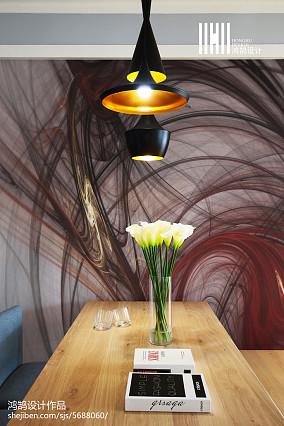 面积91平现代三居餐厅装修欣赏图