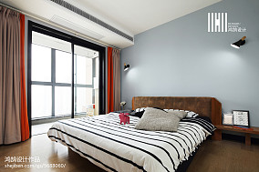 热门106平米三居卧室现代装修效果图片大全