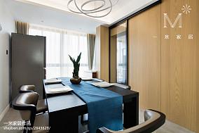 2018大小90平现代三居餐厅欣赏图