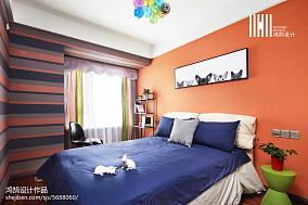 2018精选面积83平现代二居卧室装修效果图片大全
