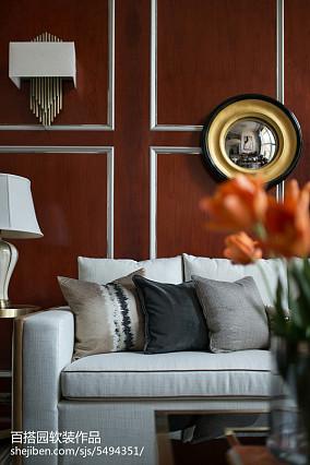 热门面积111平别墅客厅简欧装修设计效果图片大全