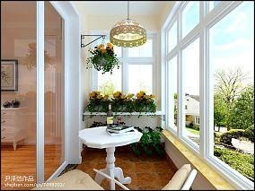 精美98平米三居阳台现代设计效果图