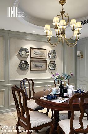 精美美式四居餐厅装饰图片欣赏