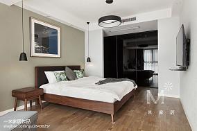 热门面积98平现代三居卧室装饰图片大全
