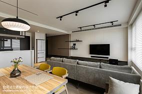 简约风格三居室背景墙效果图