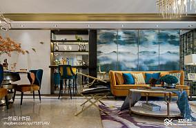 热门76平米二居客厅混搭装修效果图片