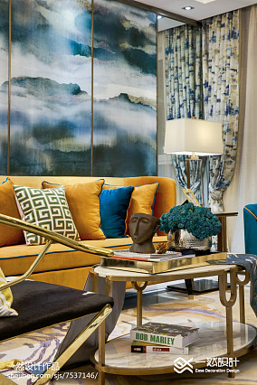 90平米二居客厅混搭装饰图片大全