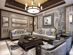 精美别墅客厅中式装饰图片大全