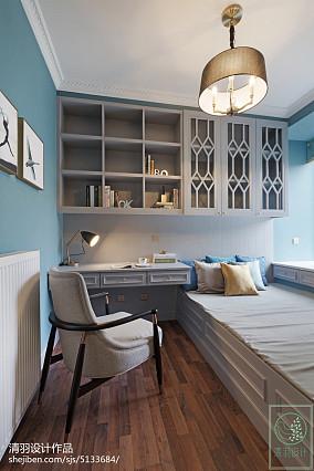 精选108平米三居书房美式装修设计效果图片大全