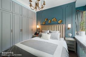 精美三居卧室美式装修设计效果图