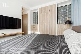 精选面积90平北欧三居卧室实景图