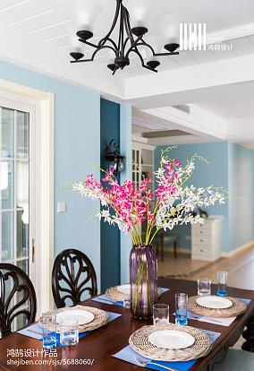 精选三居餐厅美式装修实景图
