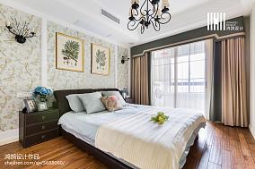 面积106平美式三居卧室欣赏图片