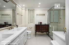 精选面积102平美式三居卫生间装修设计效果图片欣赏