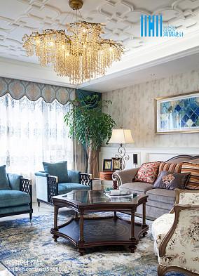 2018美式别墅客厅装修效果图