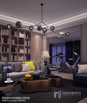 精选112平米现代别墅休闲区装修实景图
