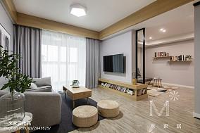 轻奢73平现代二居装潢图