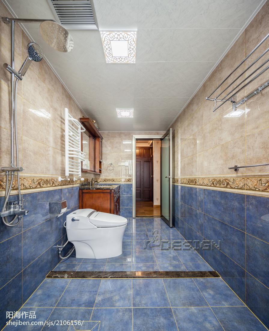 欧式三居室卫浴效果图