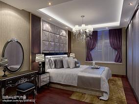 精美95平方三居卧室混搭实景图片