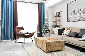 精选96平米三居客厅北欧装饰图