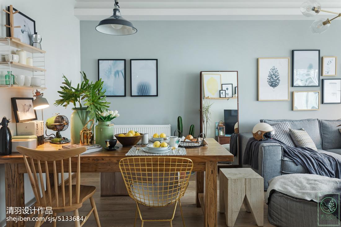 2018最新面积90平北欧二居餐厅实景图