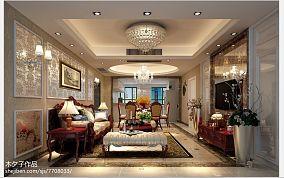 精选80平米二居客厅欧式设计效果图