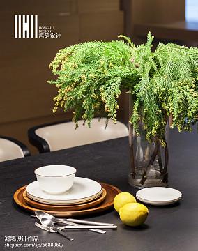 精美面积131平现代四居餐厅实景图