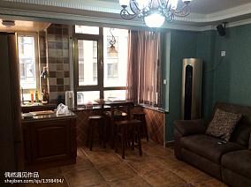 201875平米美式小户型客厅装饰图片欣赏
