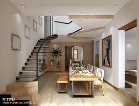 2018精选面积127平复式餐厅装修设计效果图片欣赏