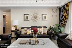 热门面积90平美式三居客厅装修欣赏图片大全