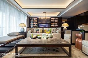 2018精选102平米三居客厅中式装修欣赏图
