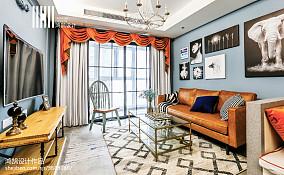 2018大小93平美式三居客厅装修设计效果图片大全