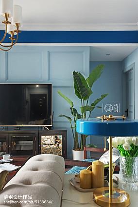 2018精选106平米三居客厅美式装修效果图片大全