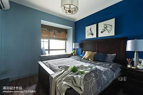 2018106平米三居卧室美式装饰图片