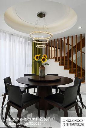 2018精选面积135平别墅餐厅现代装饰图