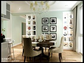 精美140平方中式别墅餐厅实景图片大全