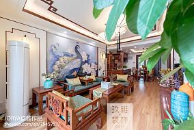 优美119平中式三居客厅装修图片